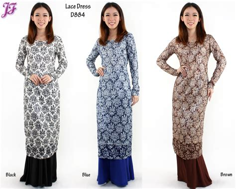 pattern jubah lace dress moden lace images