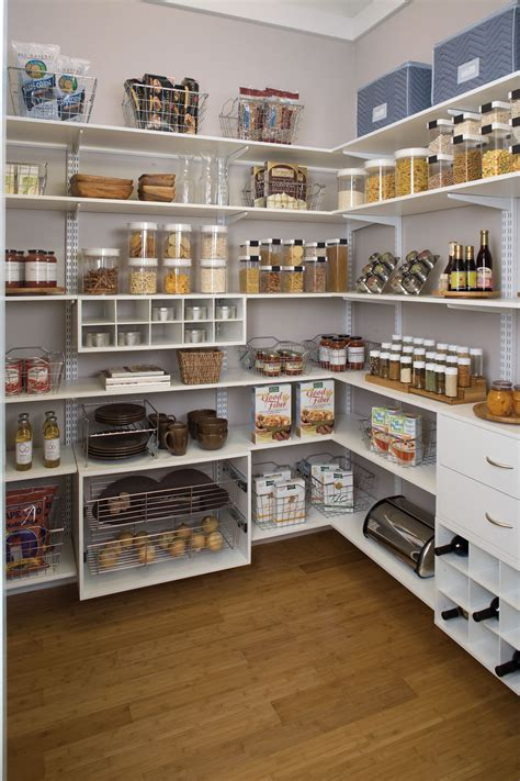 Kitchen Storage Shelves Ideas by Organized Living Pantry Shelving