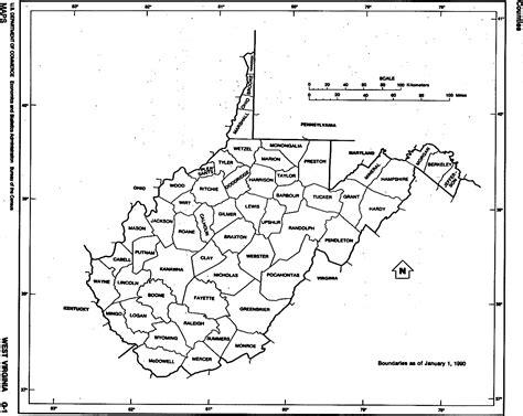 printable road map of west virginia west virginia free map
