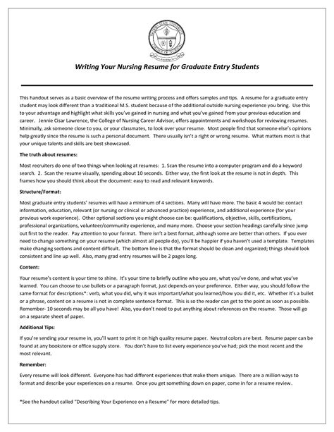 resume title exles for nurses augustais