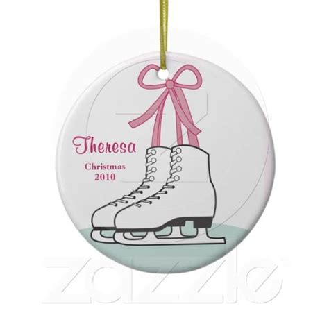 ice skating christmas ornament