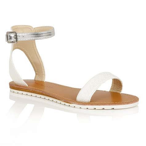 white sandals buy dolcis winona sandals in white silver