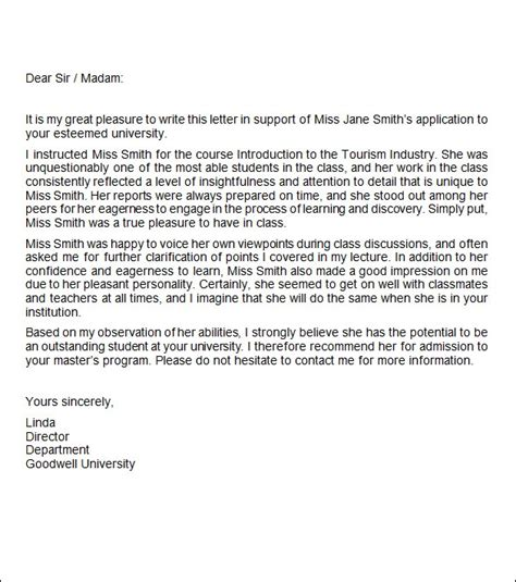job recommendation letter documents word