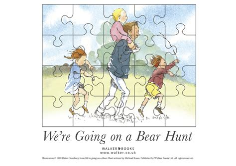 were going on a we re going on a bear hunt jigsaw scholastic kids club