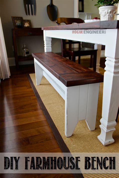 diy farmhouse bench diy farmhouse bench free plans rogue engineer