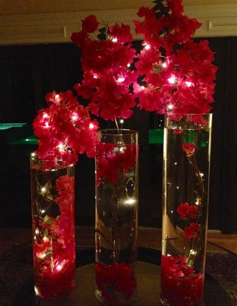 led lights for centerpieces 19 best images about lit up plants and flowers on