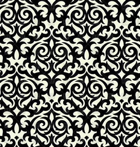 white pattern clipart seamless black damask background royalty free vector clip