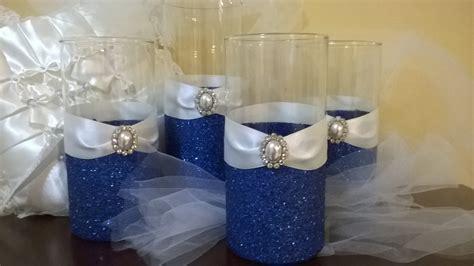 Glitter Vase Centerpiece by Wedding Centerpiece 5 Glitter Vases Bridal Bouquet Holder