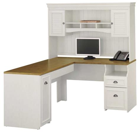 white office desk with hutch bush desk furniture for home office