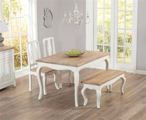 shabby chic table and bench parisian 130cm shabby chic dining table with chairs and