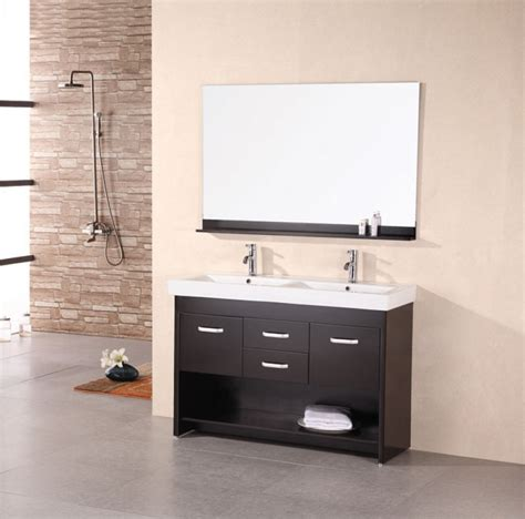 dual bathroom sinks 48 inch modern double sink bathroom vanity in espresso uvde07448
