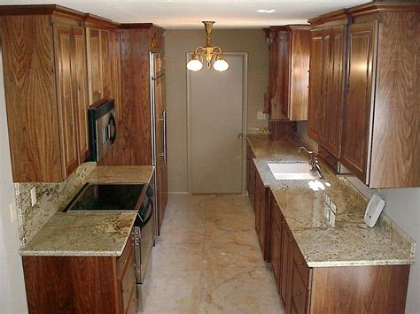Galley Kitchen Cabinets | walnut galley kitchen cabinets by lj cabinetry by