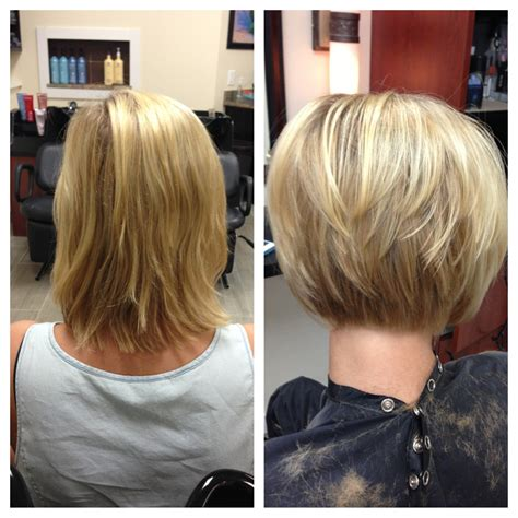 long bob haircuts before and after before and after haircut niki nachodsky pinterest