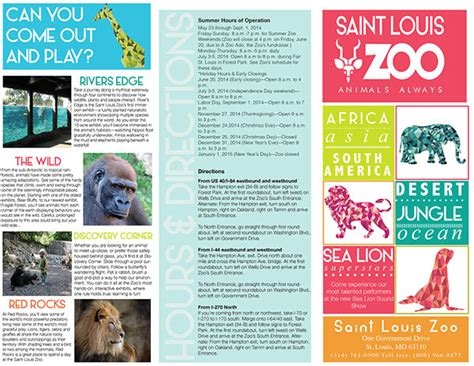 zoo brochure template best sles templates