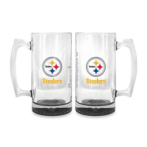 bed bath and beyond pittsburgh nfl pittsburgh steelers elite glass tankard bed bath