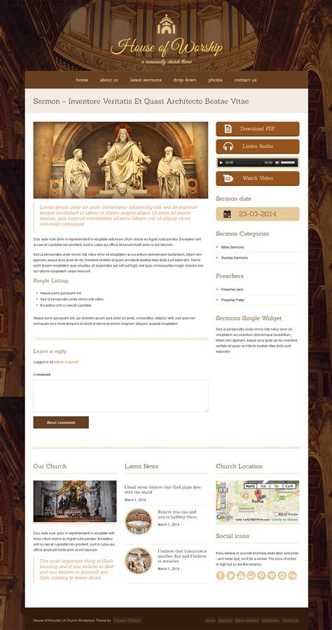 free wordpress themes zip files house of worship church wordpress theme download zip