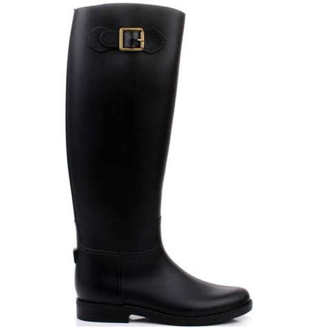 knee high flat waterproof rubber boots alex nld