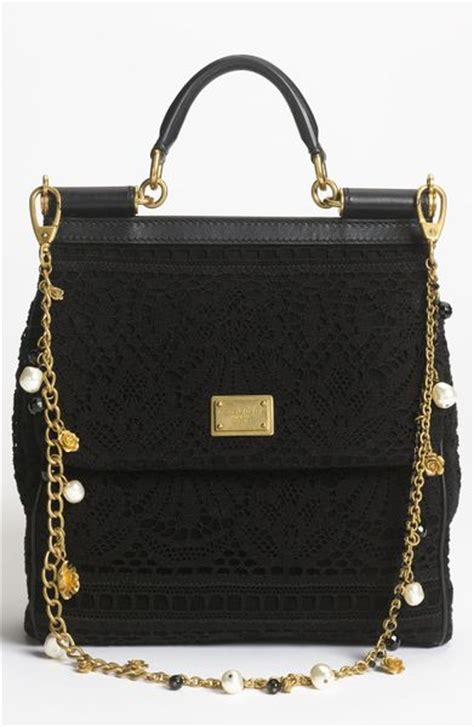 Dolce And Gabbana Miss Loop Satchel 2 by Dolce Gabbana Miss Sicily Small Satchel In Black Nero