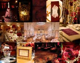 burgundy and gold wedding theme car interior design