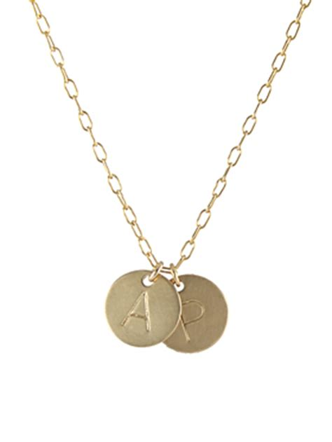 Steals Deals 15 Peggy Li Jewelry by Large Letter Initial Necklace Gf Necklaces Handmade