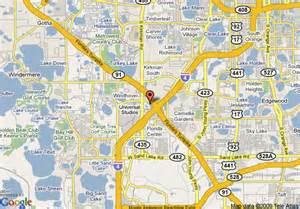 map of comfort suites universal studios area orlando