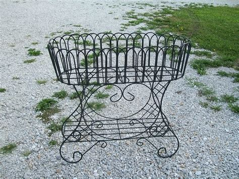 33 quot country style fern stand wrought iron planter plant stand