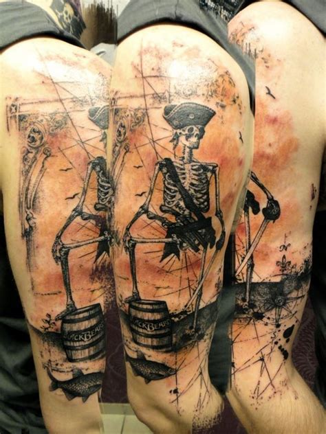 pirate tattoo sleeve designs 55 amazing pirate designs