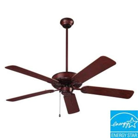 home depot wet rated ceiling fans nutone wet rated series 52 in outdoor weathered bronze