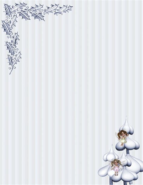 Winter Stationery Theme Downloads Pg 2 Winter Stationery Template