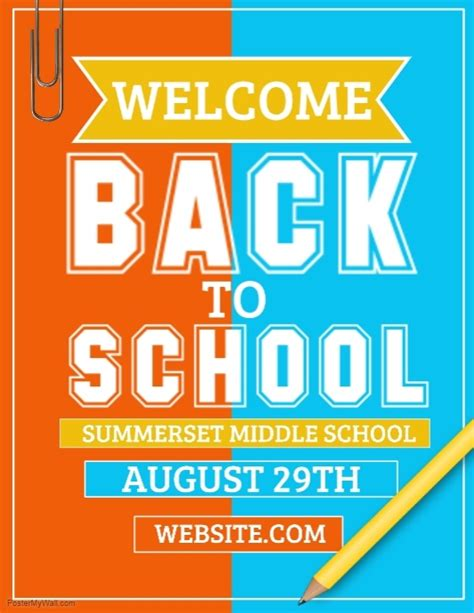 back to school poster template back to school template postermywall