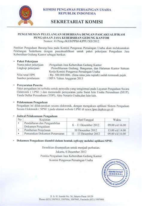 komisi pengawas persaingan usaha 187 pelelangan pengadaan