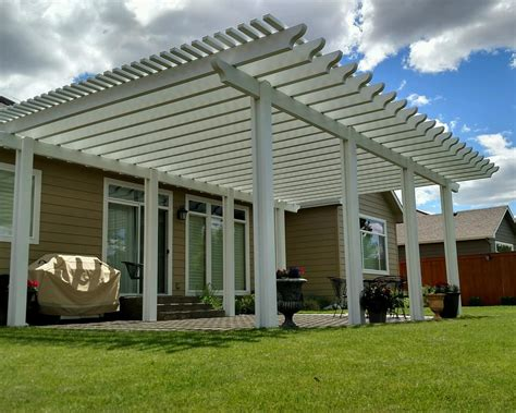 Exterior Cool Green Lawn Design With Pergola Covers Also Pergola Cover Ideas