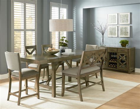 Casual Dining Room | standard furniture omaha grey casual dining room group