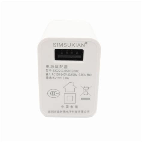 Adaptor Charger Ac To Dc Usb High Quality 1a 1 simsukian 5v2a ac dc usb power adapter