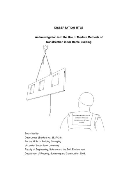 Construction Dissertation Topics Uk by Sustainable Construction Dissertation Titles