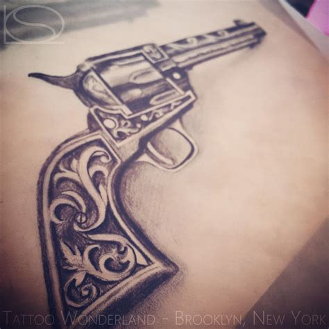 revolver tattoo design 15 revolver designs