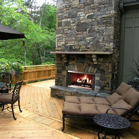 Backyard Fireplaces by 20 Beautiful Outdoor Fireplace Designs