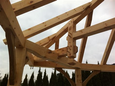Timber Frame Hip Roof Hip Roof Cabana Raising Today General Forum Questions
