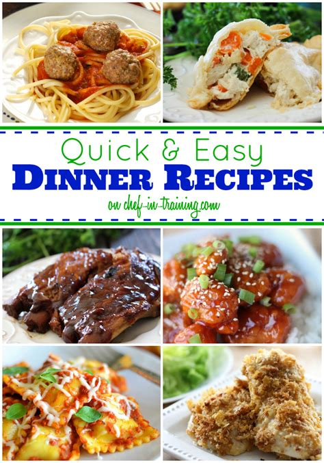 quick  easy dinners chef  training
