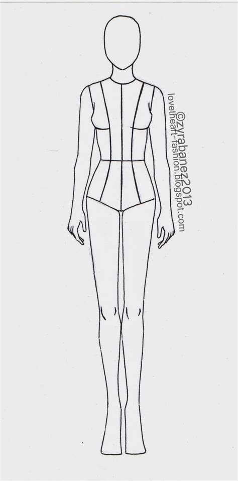 Zyra Ba 241 Ez August 2013 Fashion Drawing Template