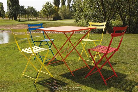 chaise jardin couleur table et chaises de jardin pliables en acier couleur petit