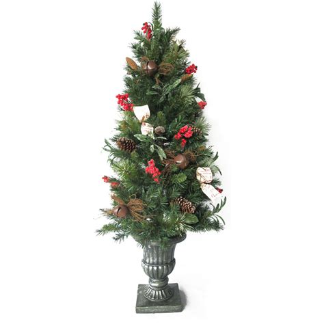 artificial decorative trees for the home shop holiday living 5 ft pine pre lit decorative