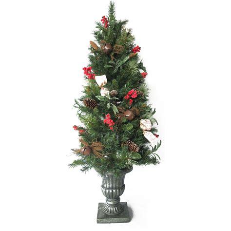 decorative pine trees shop living 5 ft pine pre lit decorative