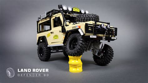 lego land rover lego rc land rover defender 90 the awesomer
