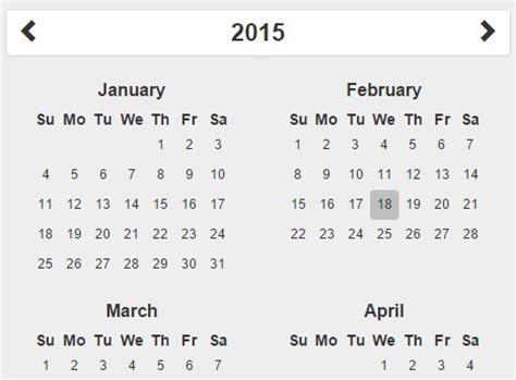 calendar bootstrap calendar template 2016