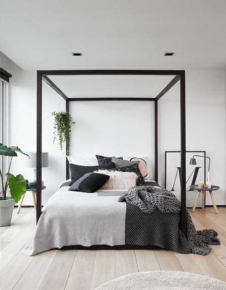black four poster bed 4 post bed hom decor