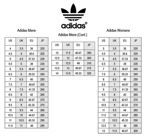 adidas superstar size chart world of printables