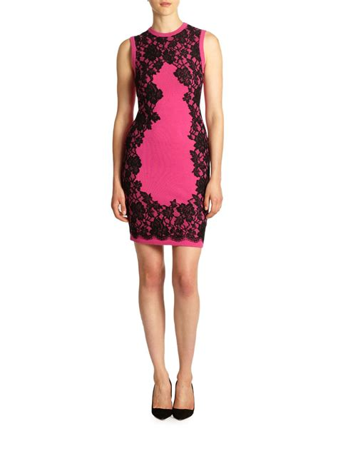 michael kors knit dress michael kors lace appliqu 227 knit dress in pink