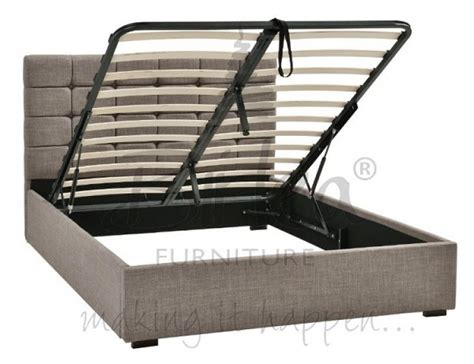 Superking Bed Frame Uk Birlea 4ft6 Grey Upholstered Fabric Ottoman Bed Frame By Birlea