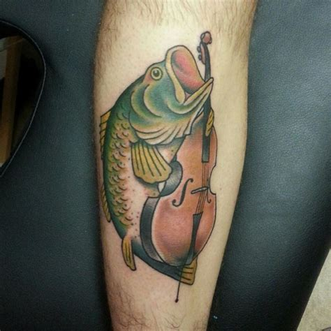 lotus tattoo in lansdale funny fish playing contrabass http www lovely tattoo